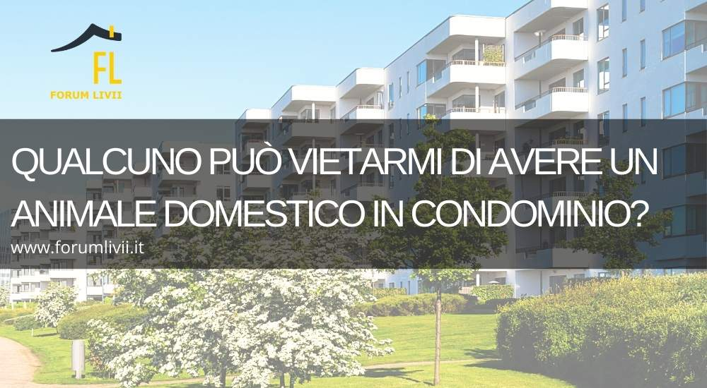 Divieto di un animale domestico in condominio