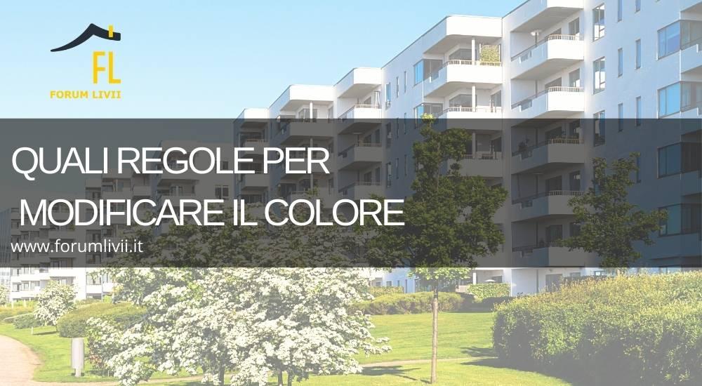 Facciata del condominio: quali regole per modificare il colore
