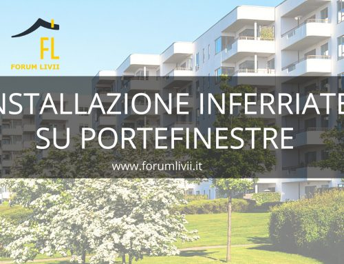 Installazione inferriate su portefinestre in contesto condominiale