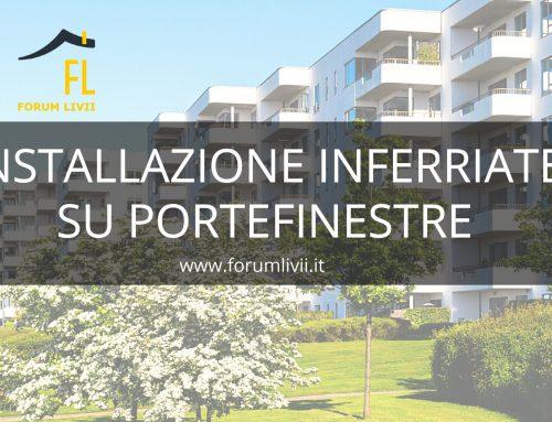 Installazione inferriate su portefinestre in contesto condominiale